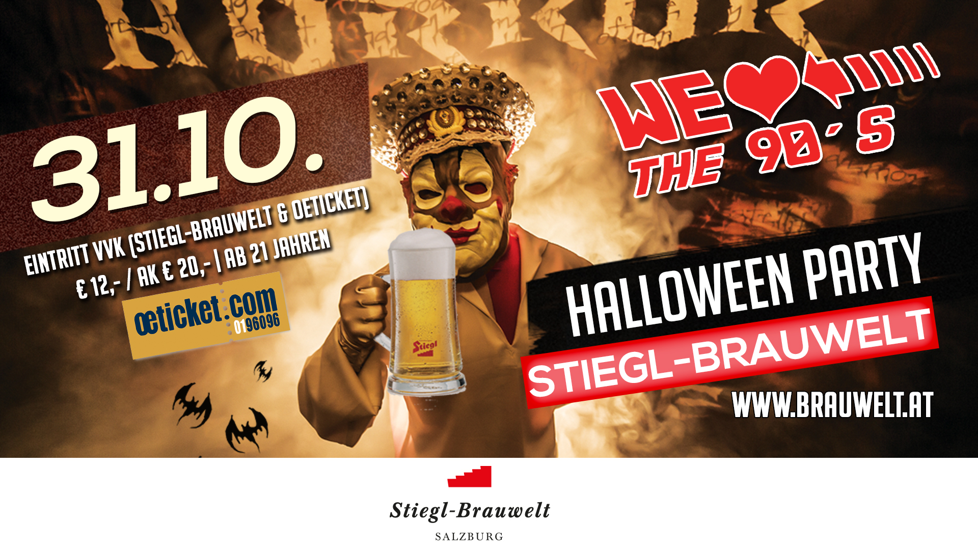 90s Party in der Stiegl Brauwelt